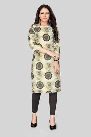 White Black Color Heavy Maslin Women's Stitched Kurti - JF-R6
