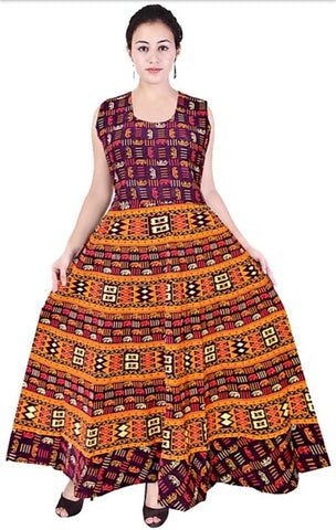 Multi Color Cotton Stitched Dress - JFDL2108209