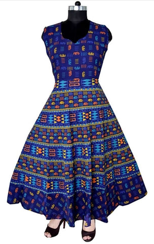 Multi Color Cotton Stitched Dress - JFDL2108306