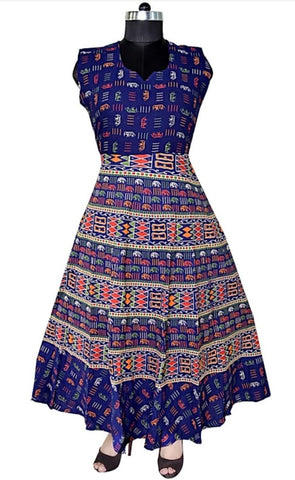 Multi Color Cotton Stitched Dress - JFDL2108404