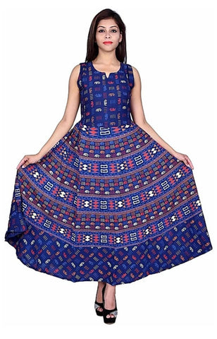 Multi Color Cotton Stitched Dress - JFDL2108405
