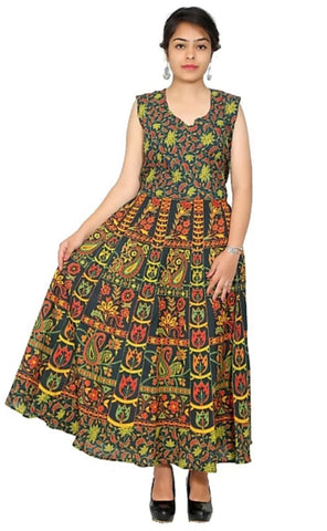 Multi Color Cotton Stitched Dress - JFDL2108607