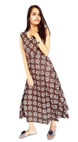 Multi Color Cotton Stitched Dress - JFDL2202200