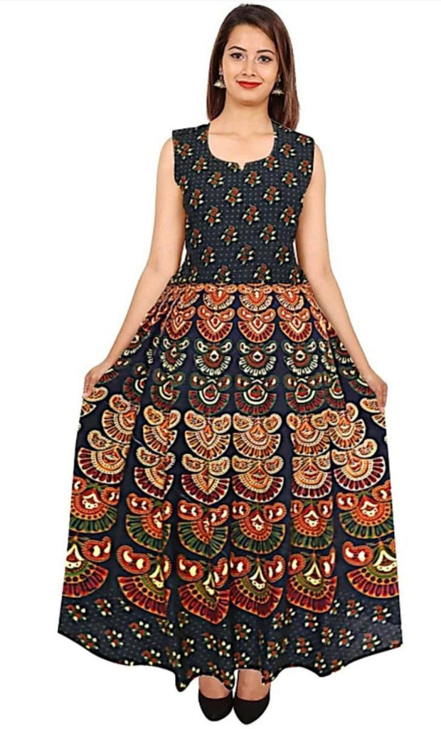 Buy Multi Color Rayon Stitched Dress