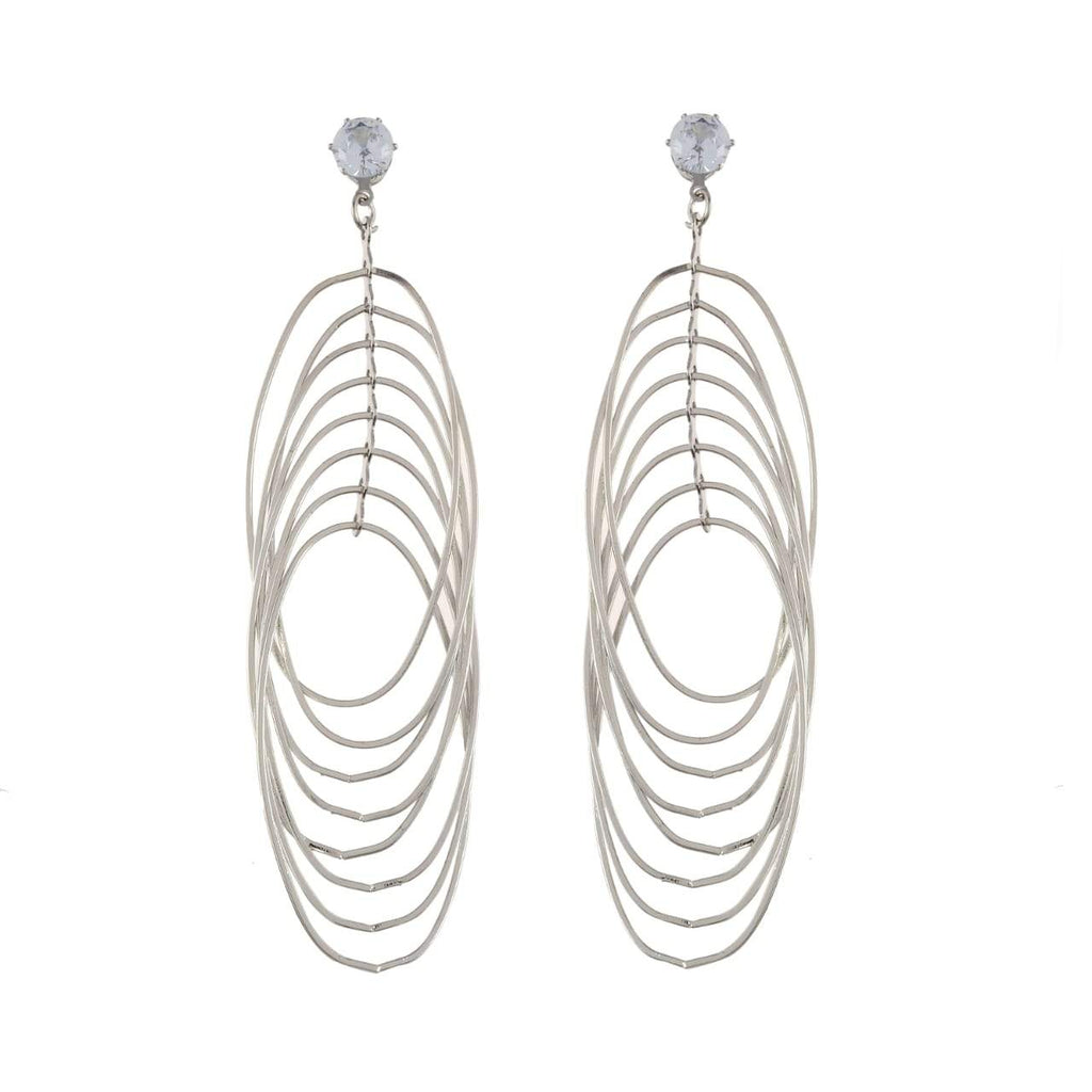 Buy Silver Color Metal Earrings