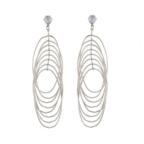 Silver Color Metal Earrings - JFE-1