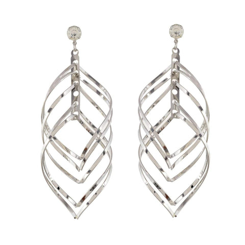 Silver Color Metal Earrings - JFE-3