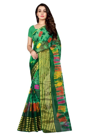 Multi Color Chiffon Saree - JGulmohar-1