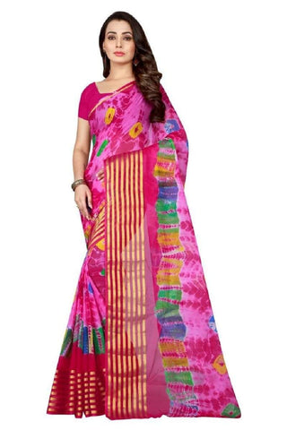 Multi Color Chiffon Saree - JGulmohar-3