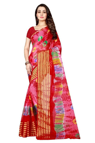 Multi Color Chiffon Saree - JGulmohar-4