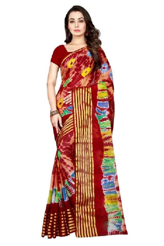 Multi Color Chiffon Saree - JGulmohar-5