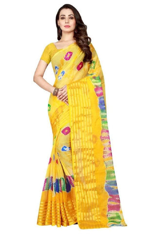 Multi Color Chiffon Saree - JGulmohar-6