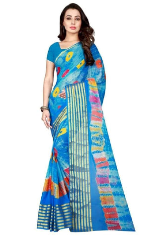 Multi Color Chiffon Saree - JGulmohar-7