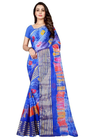 Multi Color Chiffon Saree - JGulmohar-8