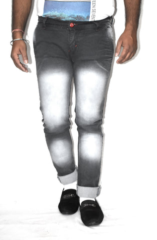 Black Color Cotton Blend Denim Mens Jeans - JJ-10063