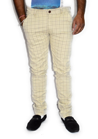 Beige Color Cotton Mens Trouser - JJ-10064
