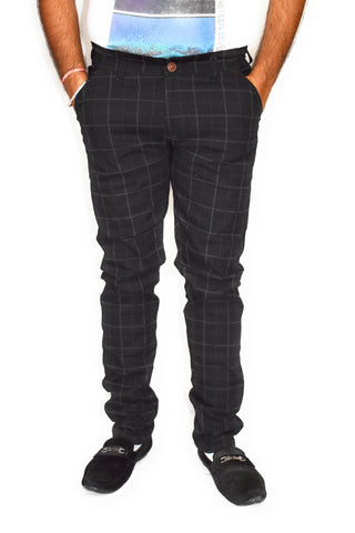Black Color Cotton Mens Trouser - JJ-10065