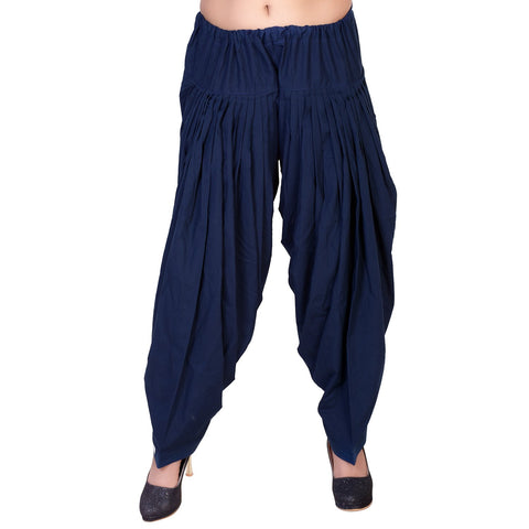 Navy Blue Color Pure Cotton Stitched Patiala - JM0-0004