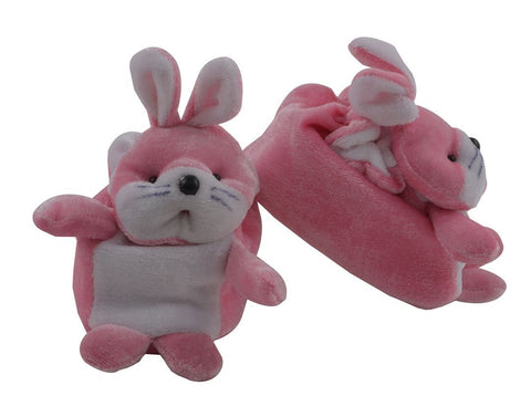 Light Pink Color Soft Cotton Rabbit Baby Booties for New Born Baby - JMA-502