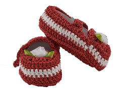 Buy Red Color Soft Cotton Fancy Baby Booties for New Born Baby
