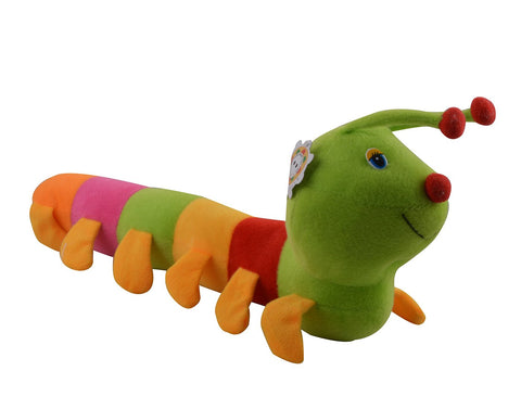 Multi Color Stuffed Soft Caterpillar Plush Toy  for Baby- JMA-525