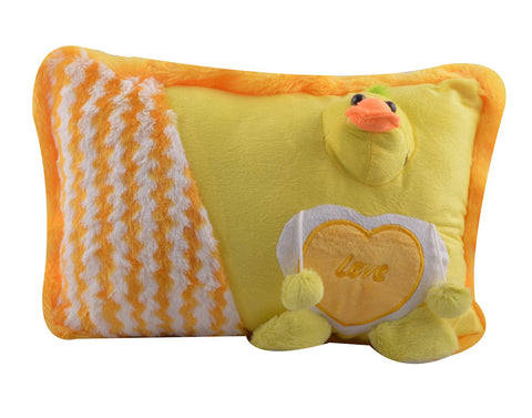 Yellow Color Stuffed Soft Toy Duck Pillow  for Baby - JMA-530