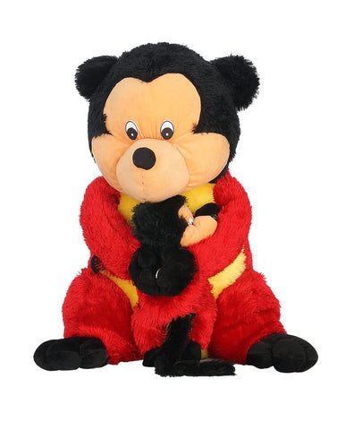 Red Color Soft and Cozy Plush Toy Micky Mouse for Baby - JMA-536