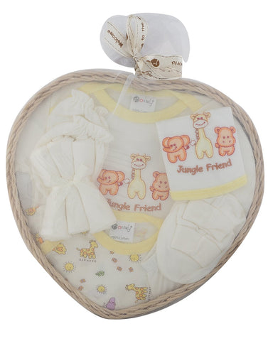 White Color Soft Baby Gift Combo - JMA-545