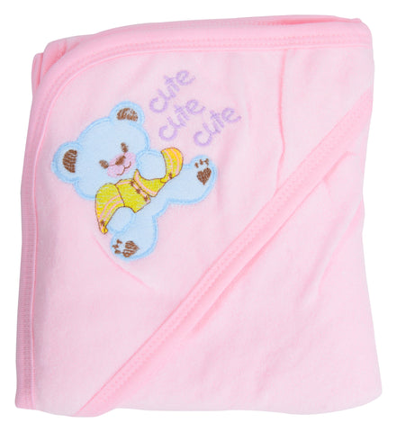 Pink Color  Cotton Soft Baby Towel  - JMA137