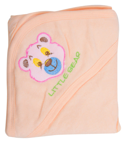 Orange Color Cotton Soft Baby Towel  - JMA138