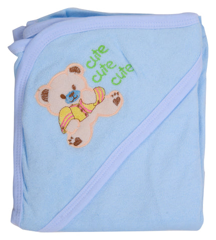 Blue Color Cotton Soft Baby Towel  - JMA139