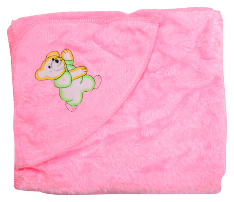 Pink Color Cotton Soft Baby Towel  - JMA149