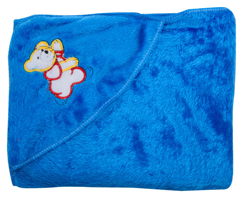 Blue Color Cotton Soft Baby Towel  - JMA150