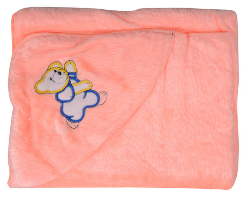 Orange Color Cotton Soft Baby Towel  - JMA151