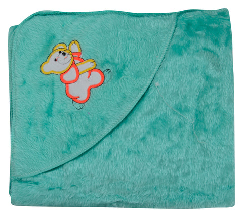 Green Color Cotton Soft Baby Towel  - JMA152