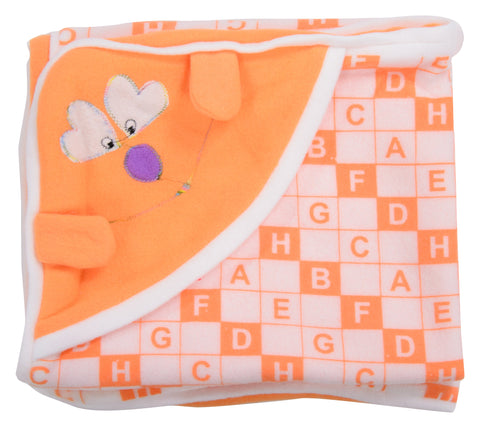 Orange Color Cotton Soft Baby Towel  - JMA155