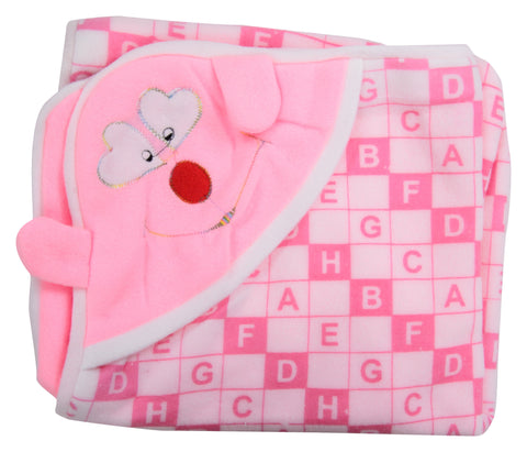 Pink Color Cotton Soft Baby Towel  - JMA156