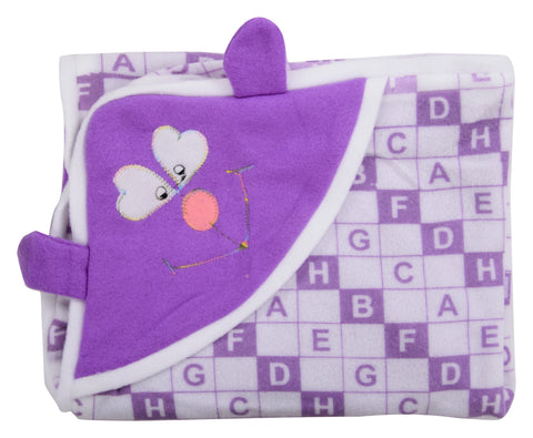 Purple Color Cotton Soft Baby Towel  - JMA157