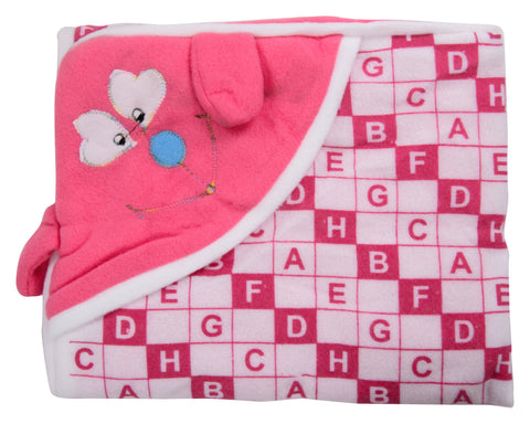 Pink Color Cotton Soft Baby Towel  - JMA158