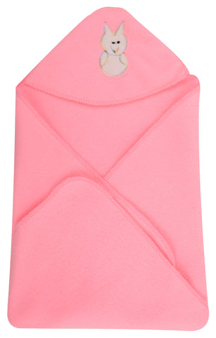Pink Color Cartoon Single Swadding Baby Blanket  - JMA43