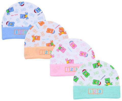 Multi Color Cotton Unisex Baby Hats  - JMA70