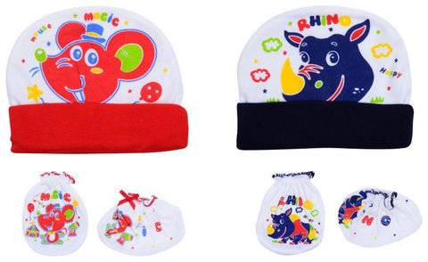 Multi Color Cotton Unisex Baby Hats - JMA77