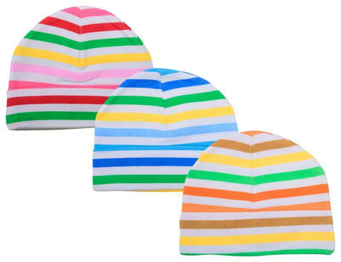 Multi Color Cotton Unisex Baby Hats - JMA89