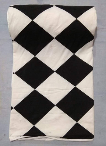 White and Black Color Micro Cotton Single Dohers  - JMCD-4