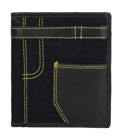 Black Color Leather Mens Wallet - JN19BLACK