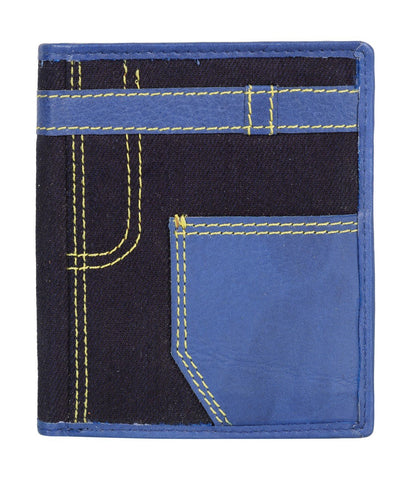 Blue Color Leather Mens Wallet - JN19BLUE