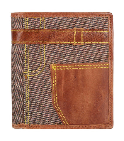 Brown Color Leather Mens Wallet - JN19BROWN