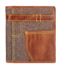 Buy Brown Color Leather Mens Wallet