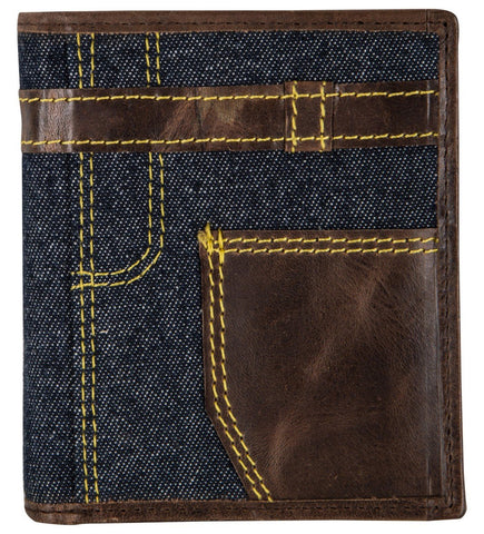 Blue Color Leather Mens Wallet - JN19DBLUE