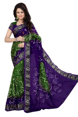 Multi Color Art Silk Saree - JNNAVRANG-4